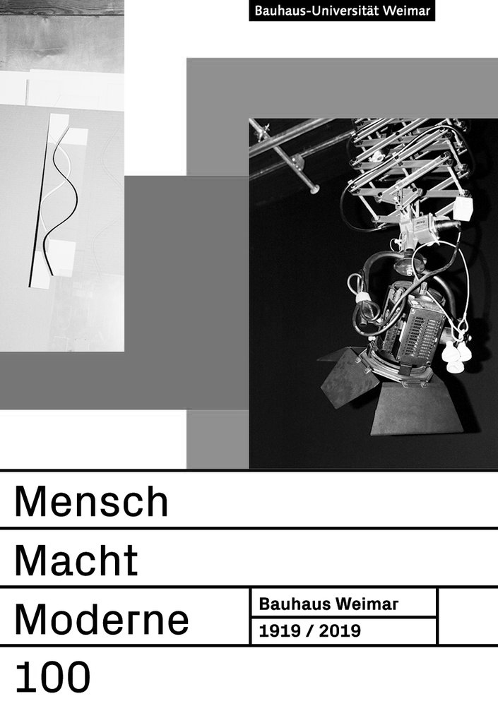 The presentation and podium series »Mensch Macht Moderne« organised by the presidium takes places every Wednesday evening during the Bauhaus.Semester. (Graphic: Bauhaus-Universität Weimar, University Press)